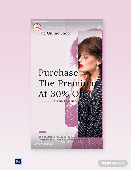 Free Shop App Promotion Instagram Story Template