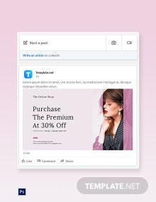 Free Shop App Promotion LinkedIn Blog Post Template