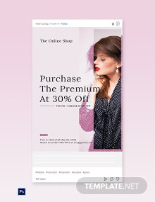 Free Shop App Promotion Tumblr Post Template