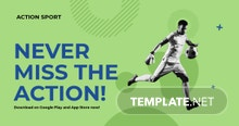 Free Sports App Promotion Facebook Post Template