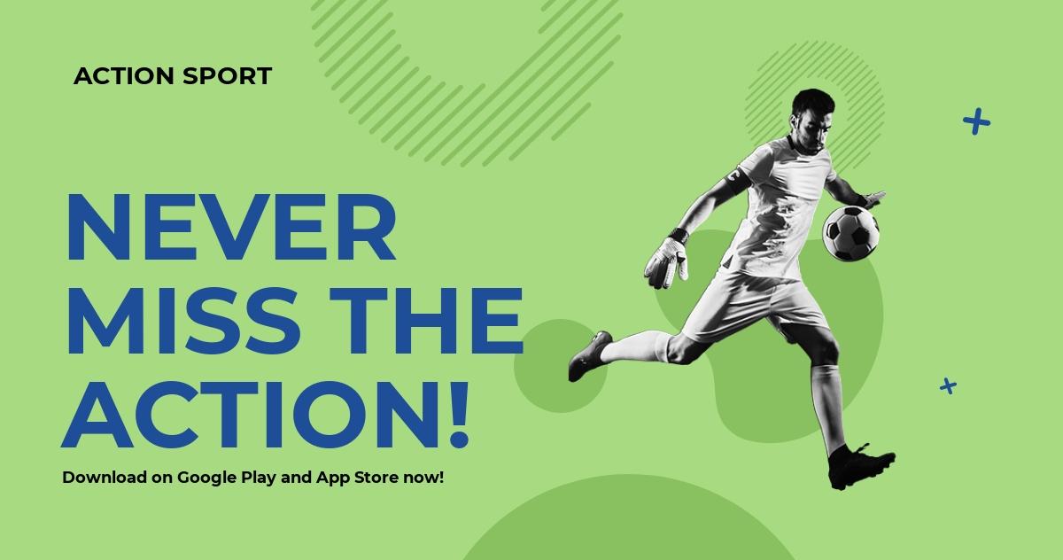 Sports App Promotion Facebook Post Template [Free JPG] - PSD