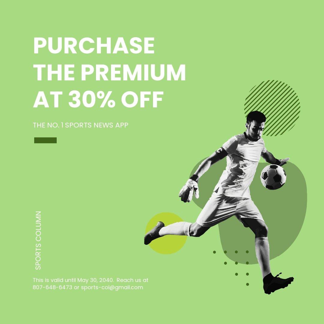 Free Sports App Promotion Instagram Post Template.jpe