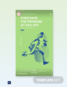 Free Sports App Promotion Instagram Story Template