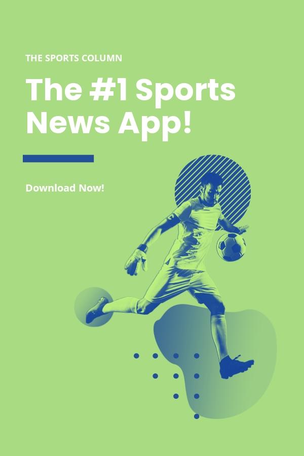 Free Sports App Promotion Pinterest Pin Template.jpe