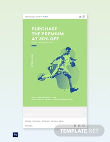 Free Sports App Promotion Tumblr Post Template