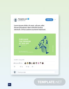 Free Sports App Promotion Twitter Post Template