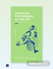 Free Sports App Promotion Whatsapp Image Template