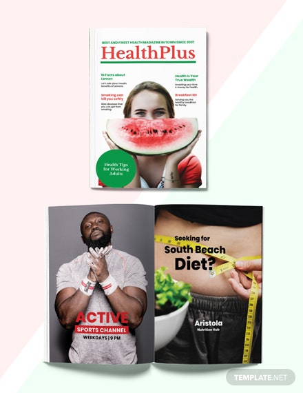 Health Magazine Template