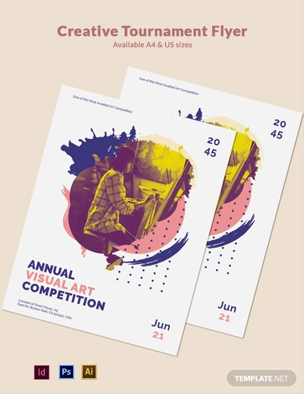 Free Creative Tournament Flyer Template