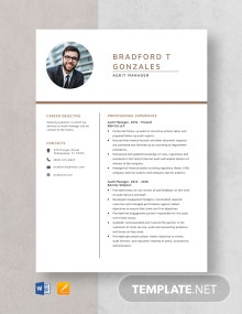 Audit Manager Resume Template