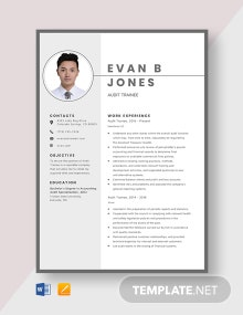 Audit Trainee Resume Template