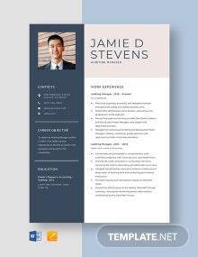 Auditing Manager Resume Template