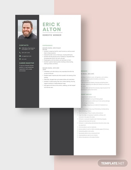Domestic Worker Resume Download