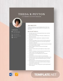 E-commerce Account Manager Resume Template