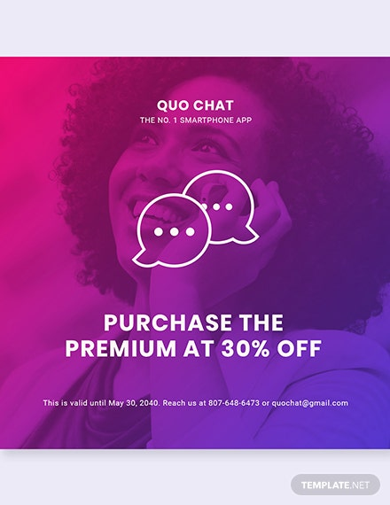 Free Chat App Promotion Instagram Post Template: Download 1025+ Chat