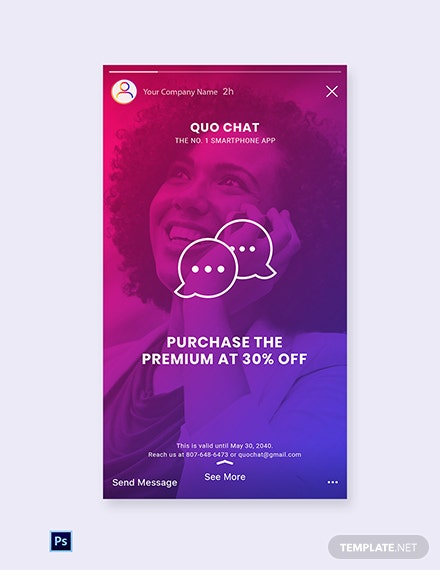 Free Chat App Promotion Instagram Story Template