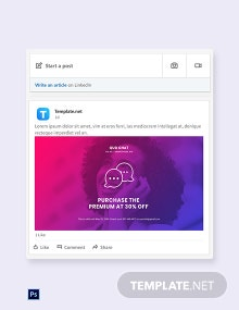 Free Chat App Promotion Linkedin Post Template