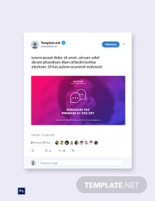 Free Chat App Promotion Twitter Post Template