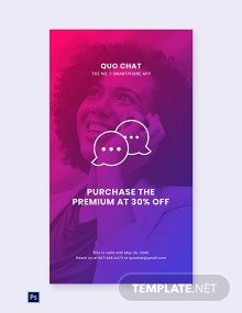 Free Chat App Promotion Whatsapp Image Template