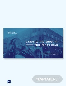 Free Music App Promotion Blog Image Template