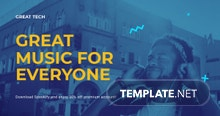 Free Music App Promotion Facebook Post Template