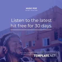 Free Music App Promotion Instagram Post Template