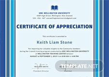 free certificate of appreciation for training template