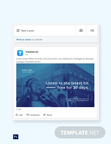Free Music App Promotion LinkedIn Blog Post Template