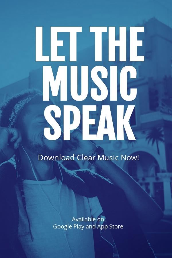 Music App Promotion Pinterest Pin Template