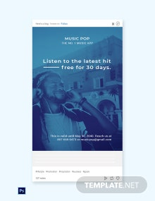 Free Music App Promotion Tumblr Post Template