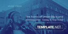 Free Music App Promotion Twitter Post Template