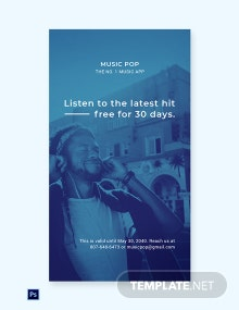 Free Music App Promotion Whatsapp Image Template