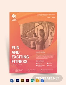 Aerobics Center Flyer Template