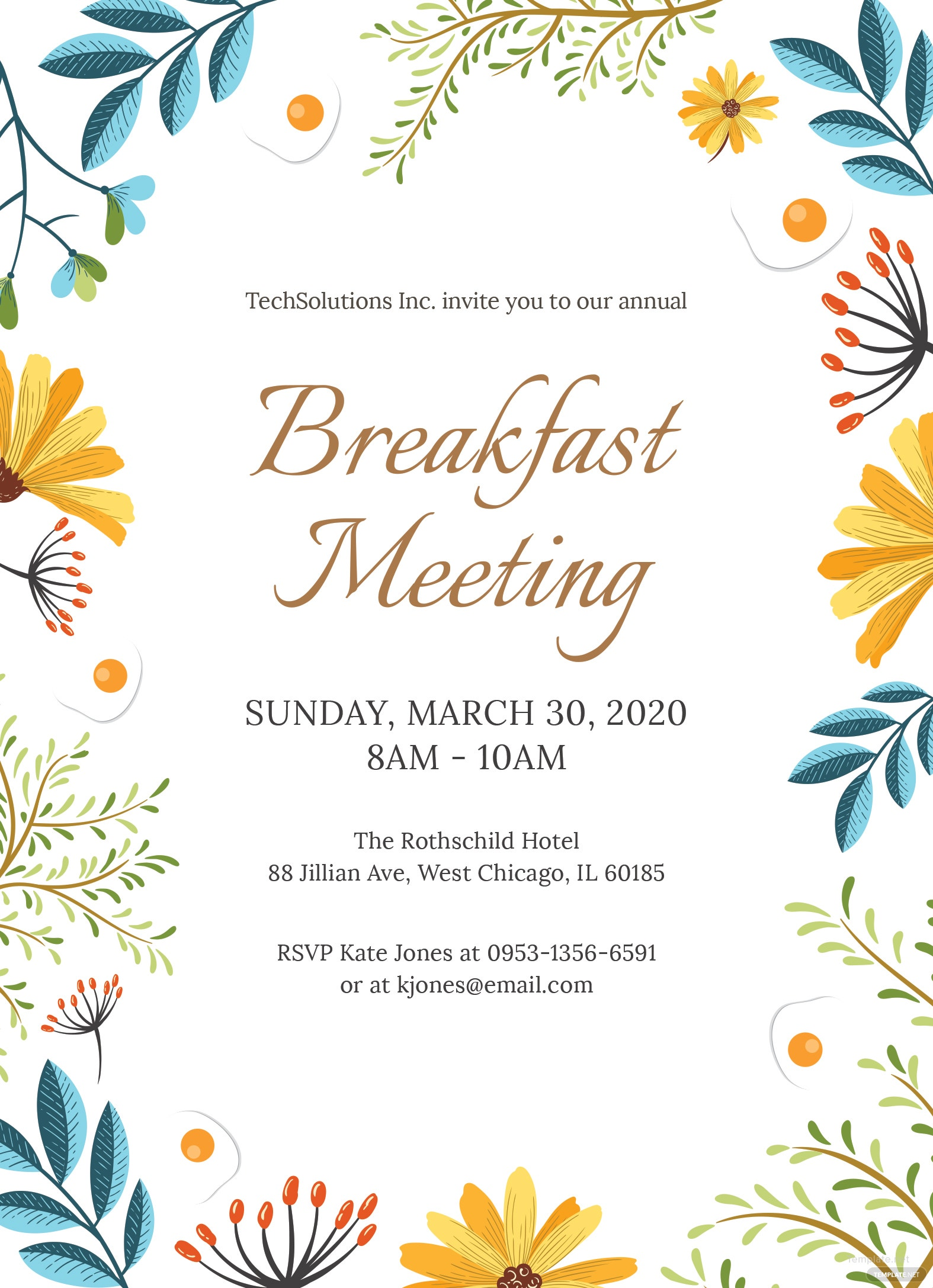 free corporate breakfast invitation template in ms word publisher illustrator apple pages. Black Bedroom Furniture Sets. Home Design Ideas