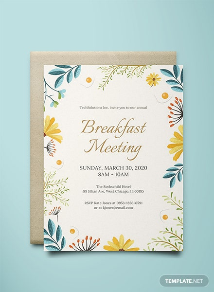 Free Corporate Breakfast Invitation Template