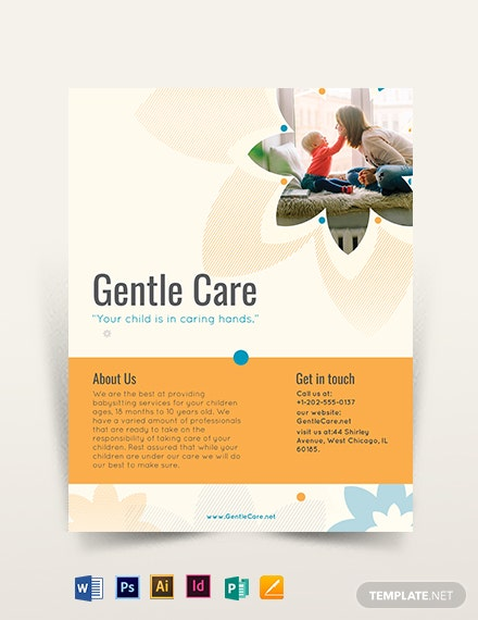 11+ Babysitting Flyers - Word, PSD, AI, EPS Vector | Free
