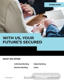 Banking Service Flyer Template