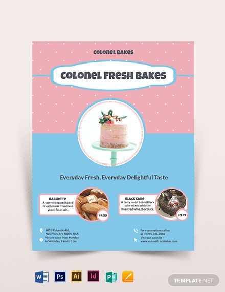cake bakery flyer