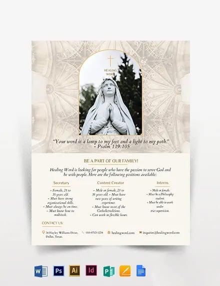 Catholic Flyer Template