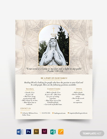 Catholic Flyer Template