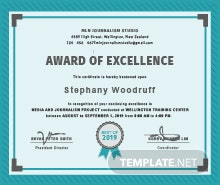 Free computer training certificate template in psd ms word free training excellence award certificate template yadclub Image collections