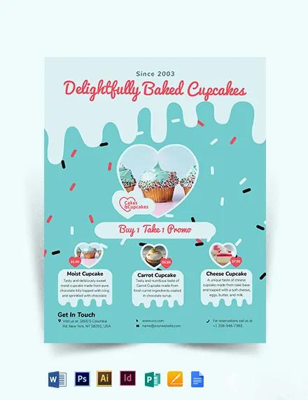 Cupcake Bakery Flyer Template