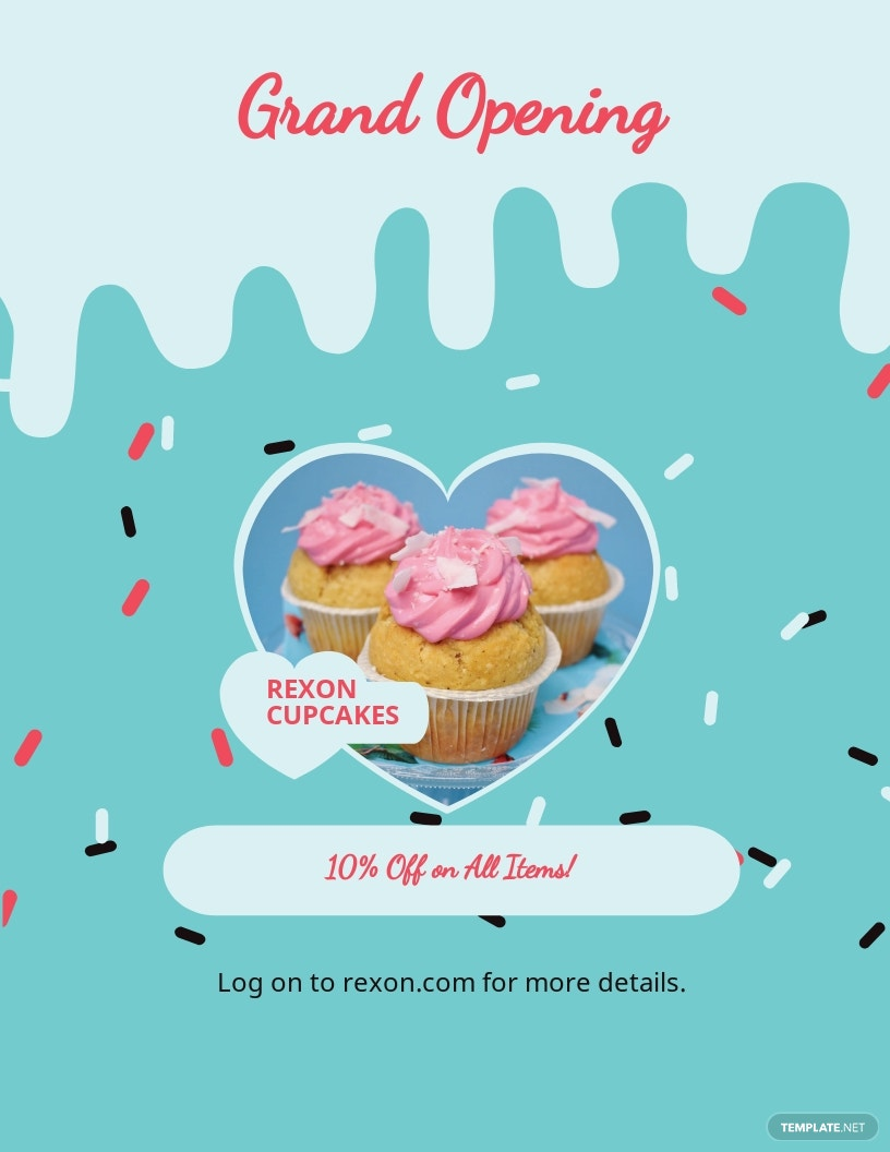 Cupcake Bakery Flyer Template.jpe