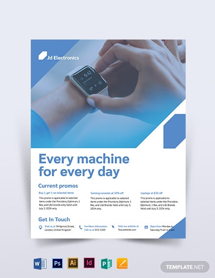 Electronic Flyer Template