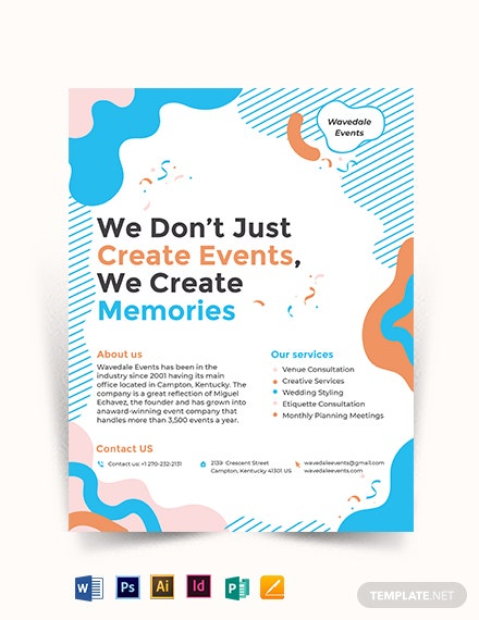 Event Service Flyer Template