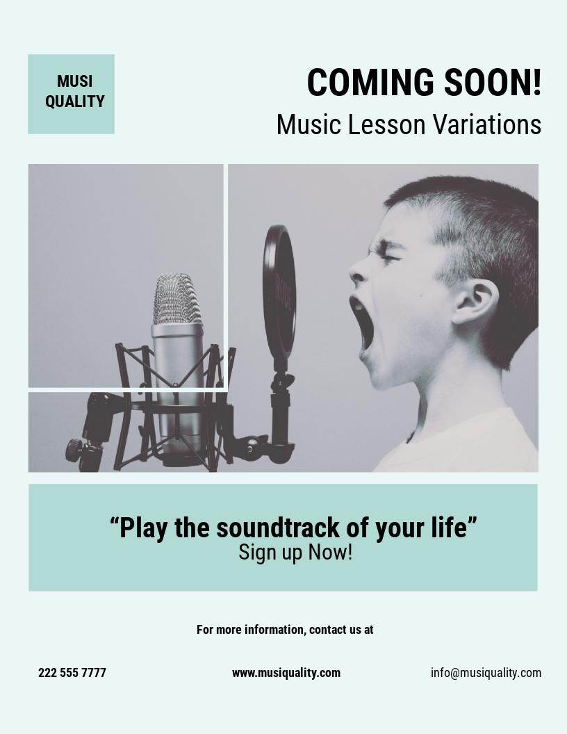 Music School Flyer Template