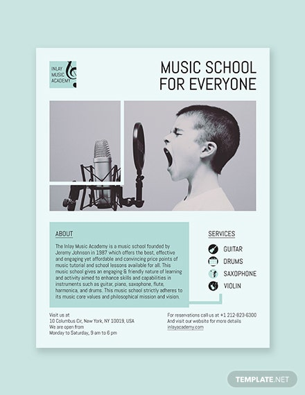 Music School Flyer Template