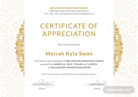 free church certificate of appreciation template download 200 certificates in psd illustrator indesign word publisher pages templatenet - Church Certificate Of Appreciation Template