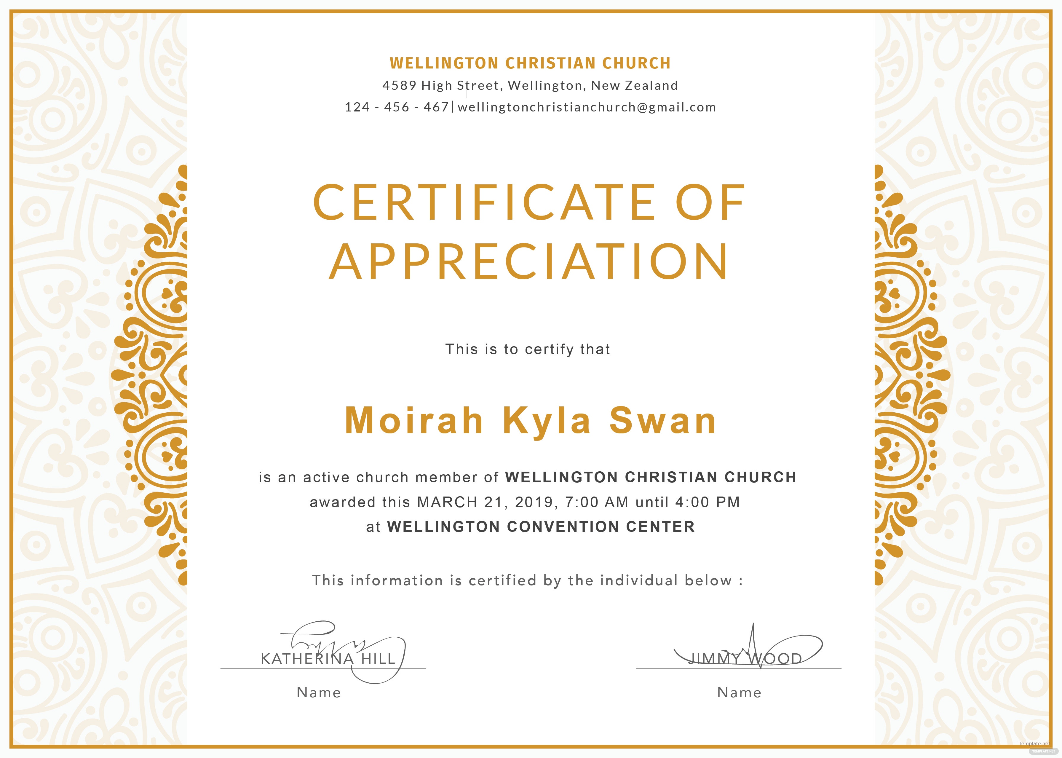 Fine church certificates templates illustration documentation free church certificate of appreciation template in adobe photoshop yadclub Image collections
