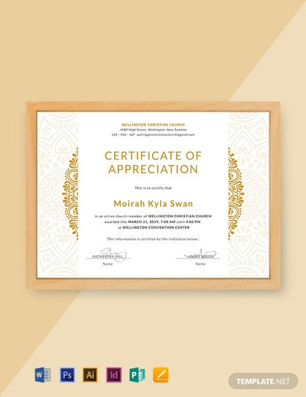 photograph about Free Printable Certificates of Appreciation named 57+ No cost Appreciation Certification Templates - Phrase PSD